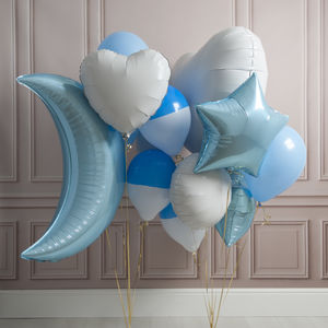 Baby Blue Crazy Party Foil Balloon Pack - room decorations
