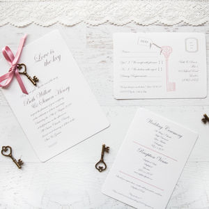 'Love Is The Key' DIY Wedding Invitation Pack - room decorations