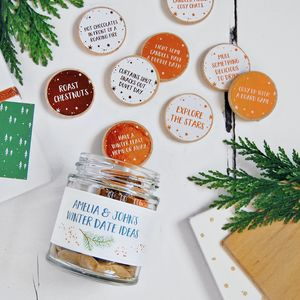 Personalised Couple's Winter Date Ideas Jar - christmas sale