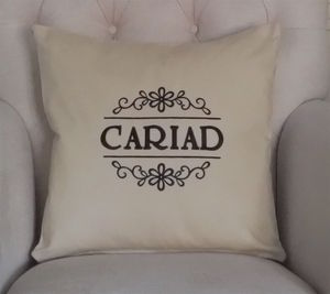 'CWTCH' Embroidered Cushion - cushions