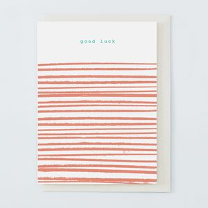'Good Luck' Card