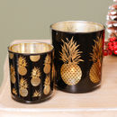 Black Pineapple Glass Candle Holder Selection