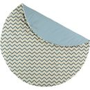 Blue Zig Zag Organic Cotton Playmat
