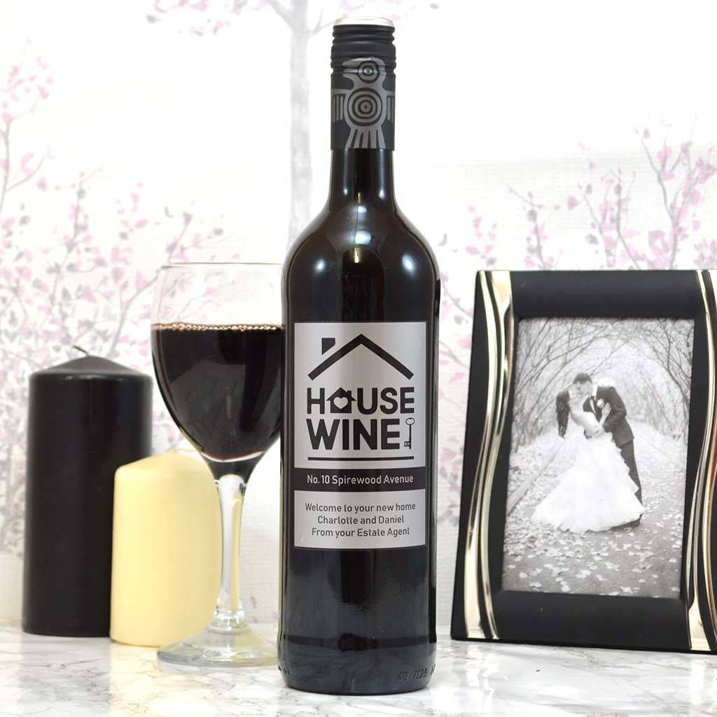 Personalised House Wine Housewarming Gifts