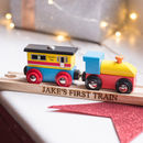 Personalised Track And Wooden Train