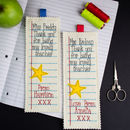 Personalised Teacher Gift Bookmark