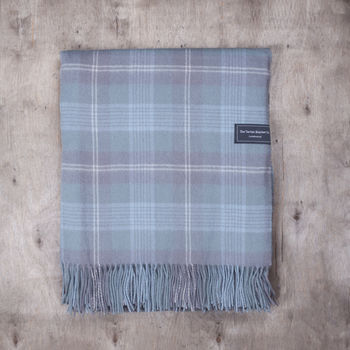 Personalised Lambswool Check Blankets