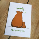 Daddy And Baby Bear A5 Card