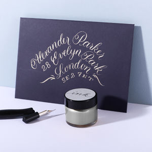 Silver Calligraphy Ink - desk accessories