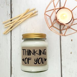 'Thinking Of You' Scented Natural Soy Candle - home accessories