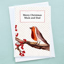 'Christmas Robin' Personalised Christmas Card