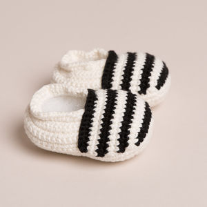 Bamboo Stripy Baby Shoes