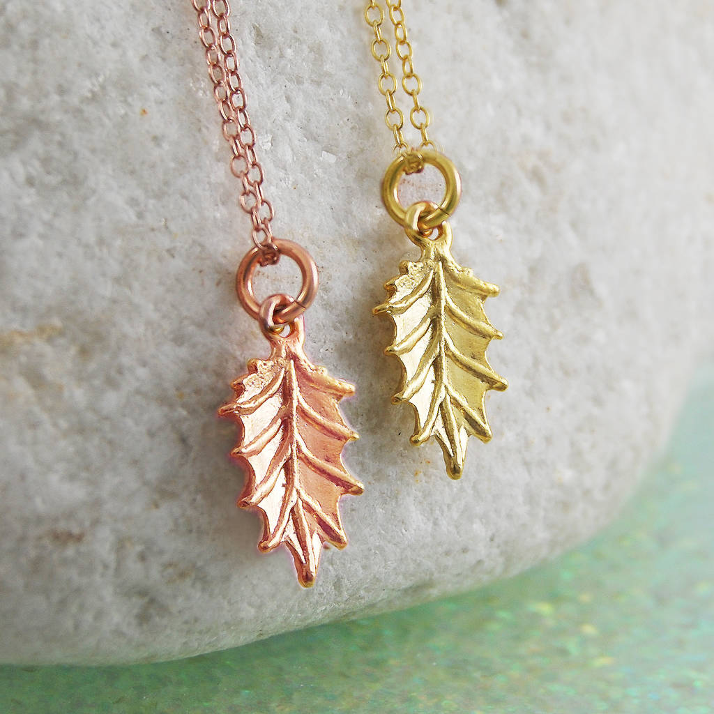 Rose Gold Holly Pendant Necklace