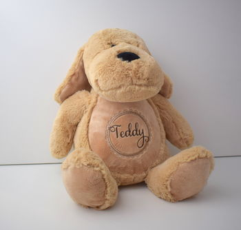 Personalised Bear Soft Dog Children's Gift