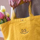 Personalised Botanical Monogram Embroidered Tote Bag