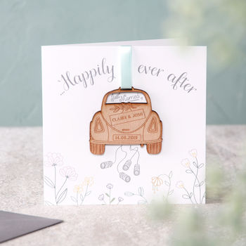 'Just Married' Wedding Keepsake Card