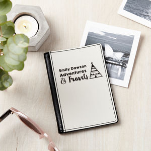 Adventures And Travel Personalised Passport Cover - passport holders