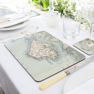 Personalised Map Placemats