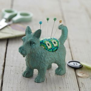 Scottie Dog Pin Cushion - pin cushions