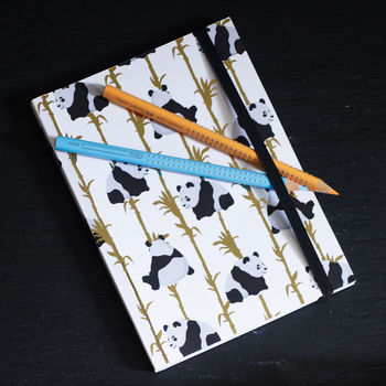 Panda And Bamboo Notebook