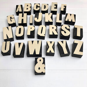 Wooden Alphabet Letter Block