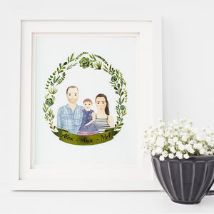 Personalised Couple Portrait - posters & prints