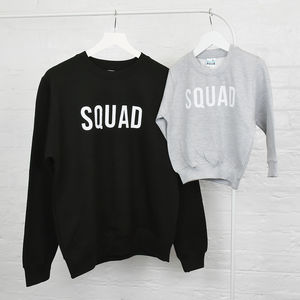 Mum And Me Squad Jumper Sweatshirt Set - mother's day gifts