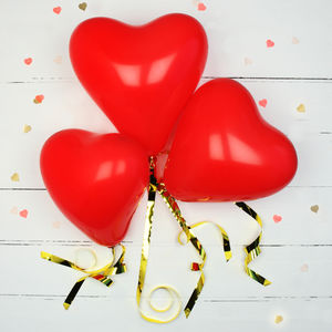 Red Love Heart Shaped Balloons