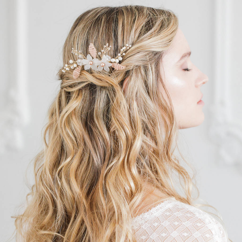 Floral Wedding Hair Comb By Britten Weddings