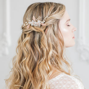 Floral Wedding Hair Comb - wedding fashion
