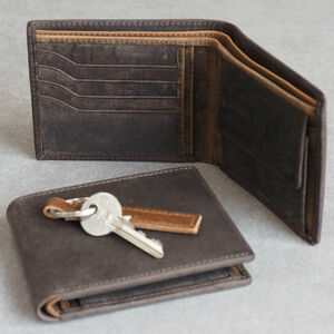 Personalised Handmade Buffalo Men's Leather Wallet