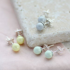 Pastel Swarovski Pearl Earrings - earrings