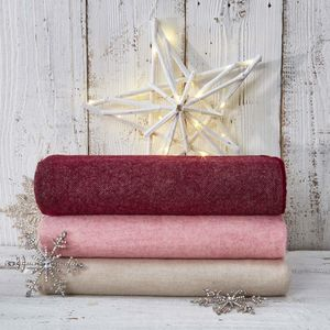 Luxury Fine Merino Throw Winter Collection