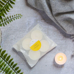 Eight Lemon Meringue Natural Soy Wax Tealights