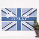 Boy's Personalised Union Flag Noticeboard