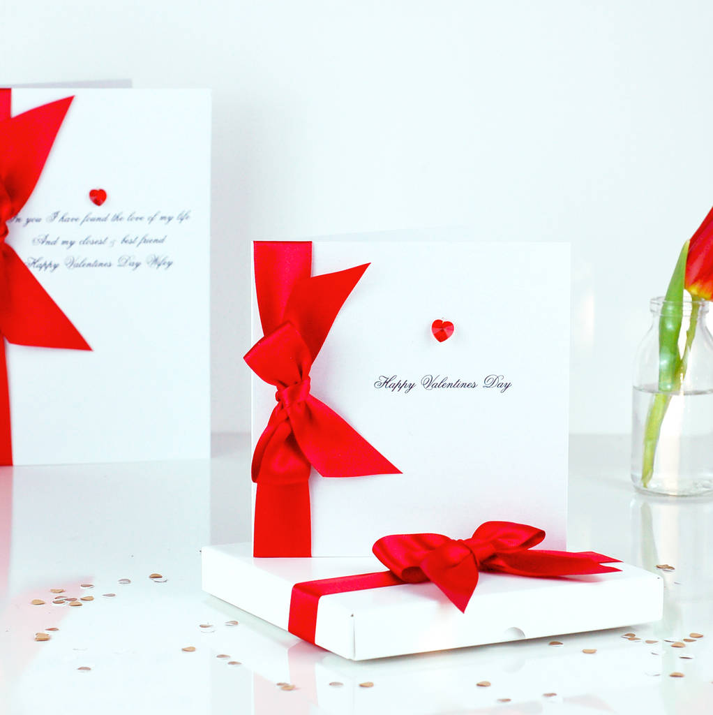 Bedazzled Red Love Heart Personalised Love Card