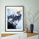 Framed Abstract Art Prints Blue Wall Art