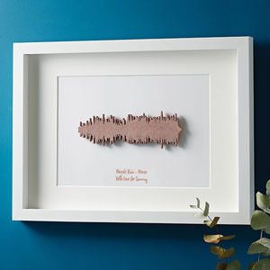 Three D Favourite Song Framed Sound Wave - gifts for her