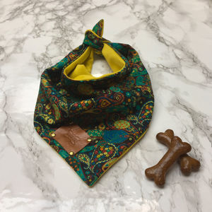 Bonaroo Paisley Luxury Dog Bandana Neckerchief - clothes & accessories