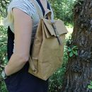 Brown Paper Style Rucksack