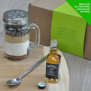 Whiskey Infused Dark Chocolate Cake In A Kilner Jar - make your own kits