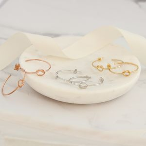 Contemporary Love Knot Hoop Earrings - earrings
