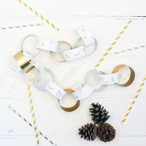 Christmas Nordic Polar Bear Paper Chains - christmas decorations