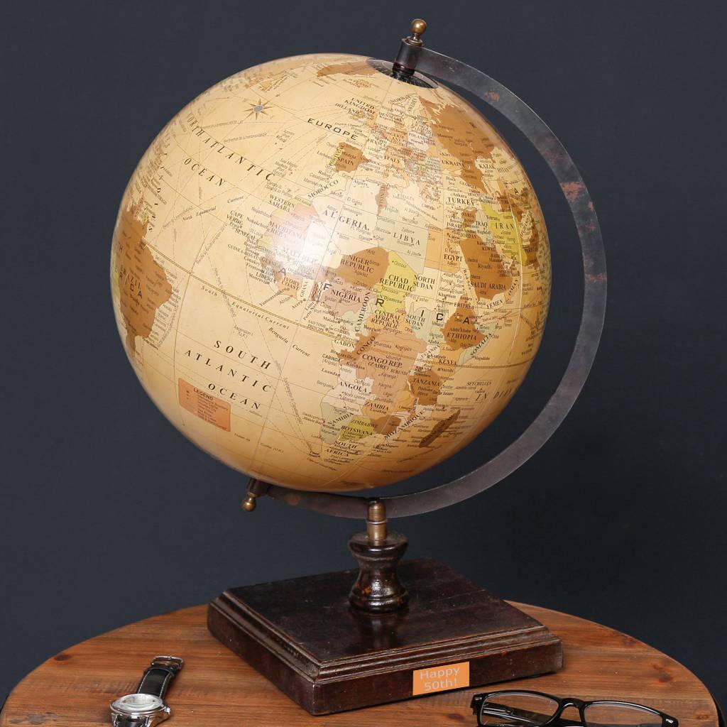 Personalised Decorative Antique Globe