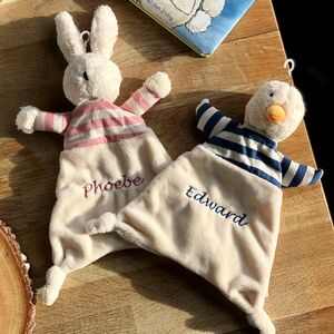 Personalised Bunny Or Duck Comforter Blanket