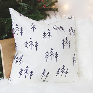 Scandinavian Christmas Cushion With Tree Pattern - cushions