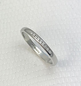 Super Slim 2mm White Channel Set Nine Diamond Ring