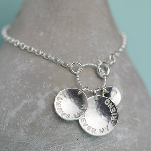 Personalised 'Her Story' Silver Charm Bracelet