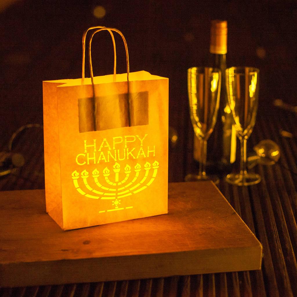 Happy Chanukah Decoration Lantern Bag