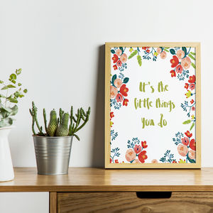 Little Things Print - typography
